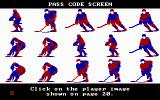 Wayne Gretzky Hockey DOS Pass Code Screen