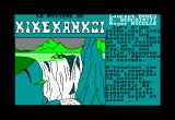 Le Mystère de Kikekankoi Amstrad CPC Title Screen with Introduction Story