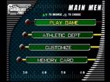 NCAA GameBreaker 2001 PlayStation Main menu