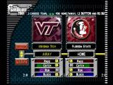 NCAA GameBreaker 2001 PlayStation Team selection