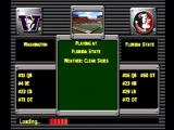 NCAA GameBreaker 2001 PlayStation Game information displayed during loading.