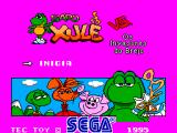 Sapo Xulé vs. Os Invasores do Brejo SEGA Master System Title screen