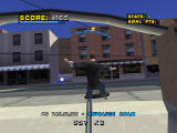 Tony Hawk's Pro Skater 4 PlayStation Grinding up the rail.