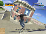 Tony Hawk's Pro Skater 4 PlayStation Grinding to the balcony.