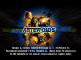 Asteroids PlayStation Title screen