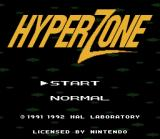 HyperZone SNES Title screen