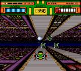 HyperZone SNES Keep moving to dodge the projectiles