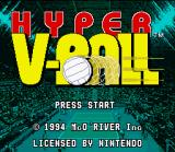 Hyper V-Ball SNES Title screen (US version)