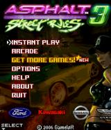 Asphalt 3: Street Rules J2ME Main game screen
