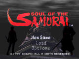 Soul of the Samurai PlayStation Title screen