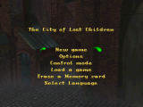 The City of Lost Children PlayStation Title/Options