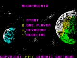 Mega Phoenix ZX Spectrum Main menu