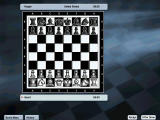 Kasparov Chessmate Windows 2D Staunton Black & White Chessboard.