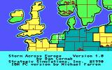 Storm Across Europe DOS Title screen (EGA)