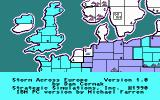 Storm Across Europe DOS Title screen (CGA)