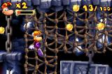 Rayman Raving Rabbids Game Boy Advance When you get your hands back, you can climb these ropes