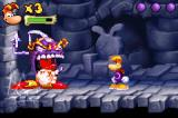 Rayman Raving Rabbids Game Boy Advance Jump over this boss to dodge his attacks, and whack him when he stops moving!
