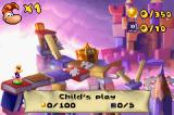 Rayman Raving Rabbids Game Boy Advance The level map
