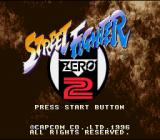 Street Fighter Alpha 2 SNES Title screen (Japanese version).