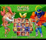 Street Fighter Alpha 2 SNES Character selection.