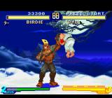 Street Fighter Alpha 2 SNES Birdie gets to grab Ryu and now unleashes the full strength of his stomping move Murderer Chain!