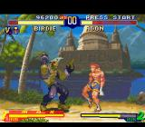 Street Fighter Alpha 2 SNES After a time-over win, Birdie moves to the next match (victory pose only seen in the Japanese game)!
