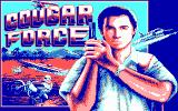 Cougar Force DOS Title screen (CGA)