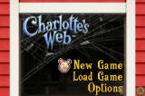 Charlotte's Web Game Boy Advance Main menu.