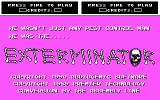 Exterminator DOS Title screen (CGA)