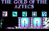 The Gold of the Aztecs DOS Main menu (CGA)