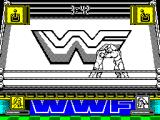 WWF Wrestlemania ZX Spectrum Grappling is determined by joystick waggling