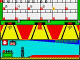 Tenpin Challenge ZX Spectrum The replacement system is in action
