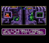 Norse by Norse West: The Return of the Lost Vikings SNES The evil Tomator.
