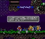 Norse by Norse West: The Return of the Lost Vikings SNES After defeating Tomator's guards, the vikings gather new equipment from them.
