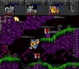 Norse by Norse West: The Return of the Lost Vikings SNES Olaf, using his shield to glide.
