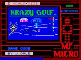 Crazy Golf ZX Spectrum Loading screen