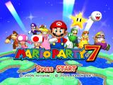 Mario Party 7 GameCube Title screen