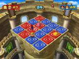 Mario Party 7 GameCube Minigame; ground-pound blocks to change them to your teams color.