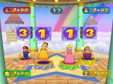 Mario Party 7 GameCube Stop the dice to earn coins.