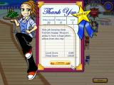 Diner Dash: Flo on the Go Windows Completing a level shows you a comment from Flo and information on how well you did