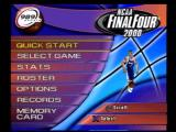 NCAA Final Four 2000 PlayStation Main menu