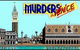 Murders in Venice DOS Title screen (EGA)