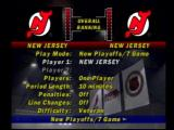 NHL FaceOff PlayStation Main menu