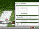 FIFA Manager 07 Windows Entering manager information