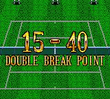 Wimbledon Championship Tennis Game Gear Double break point