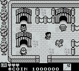 Kaeru no tame ni Kane wa Naru Game Boy Exploring a village