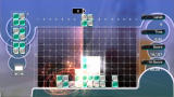 Lumines Live! Xbox 360 Placing blocks can require some advanced planning.