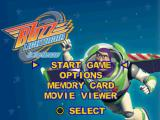 Disney•Pixar Toy Story 2: Buzz Lightyear to the Rescue! PlayStation Main menu.