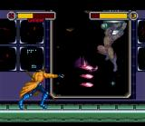 X-Men: Mutant Apocalypse SNES Gambit fighting against holographs of the other X-Men
