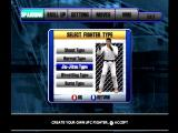 Ultimate Fighting Championship Dreamcast Creating a fighter in Career mode